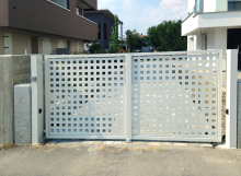 Cancello carrabile a due ante per abitazione privata a Rovigo (RO)